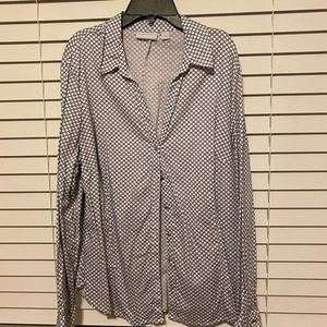 business casual button down top